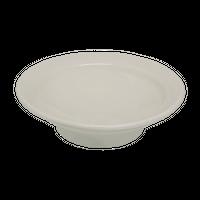アイボリ-(リム付)4.0高台丸皿    く09-014-30 寸法:13φ×4H㎝ 190g