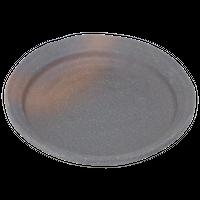 備前風 5.5丸皿    く09-075-10 寸法:16.5φ×2.5H㎝ 300g