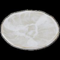 乳白 9.0丸皿    く09-064-17 寸法:27.5φ×2.5H㎝ 1000g
