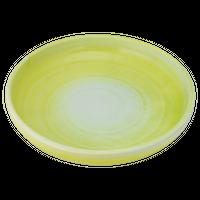 荒土黄吹 8.0深丸皿    く09-066-25 寸法:24φ×4.5H㎝ 750g