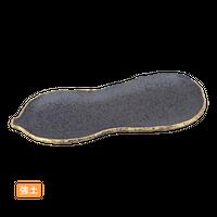 (強)黒ちらし口金 瓢形突出皿    く09-046-15 寸法:24×9×1.5H㎝ 220g