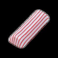 細縞 赤 京枕 箸置き    く09-144-12 寸法:5.7×2×1.1H㎝ 30g