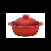 ポトフ 3号鍋 ベイクレッド    496-19841003 寸法:15.7×13.5×10H㎝ 336cc