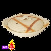 (耐)焼締火だすき 5.5浅土鍋    く09-148-15 寸法:16.5φ×18×7H㎝ 500g