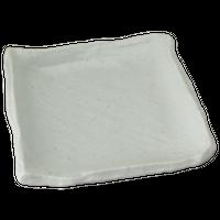 さざなみ 白匠 正角皿(大)    く09-059-40 寸法:23×23×4.5H㎝ 800g