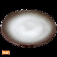 (強)伊賀白吹(渕削)7.5丸皿    く09-068-08 寸法:23φ×2H㎝ 700g