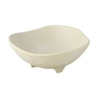 粉引 三つ足渦中鉢    く09-013-25 寸法:φ13.5×5H㎝ 200g