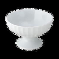かすみ 白 高台デザート碗    く09-016-10 寸法:12φ×7.7H㎝  240g