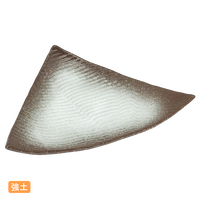 (強)伊賀白吹(波彫)三角皿    く09-057-20 寸法:23.5×17×4H㎝ 330g