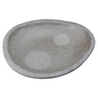 炭化土ぼたもち 縄渕6.3皿    く09-072-02 寸法:21×18.5×3.5H㎝ 600g