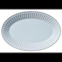 ストーリア シャビーブルー 31.5cmプラター    496-16780046 寸法:31.6×21.5×3.1H㎝