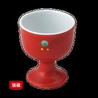 (強)朱巻点 高台珍味    く09-025-07 寸法:4.5φ×5.5H㎝ 50g