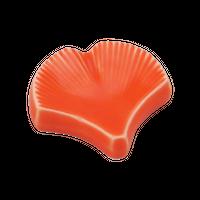 銀杏 橙 箸置き    く09-145-19 寸法:4×1H㎝  20g