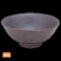 (強)黒南蛮 毛料    く09-110-21 寸法:15.5φ×6.5H㎝ 300g
