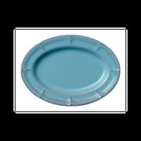 ラフィネ アンティークブルー 25cmオーバルプラター    496-15987048 寸法:25×18×2.7H㎝
