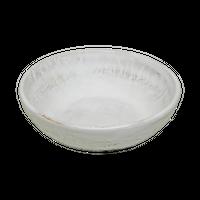 乳白 3.3丸丼    く09-018-37 寸法:11φ×3.5H㎝  160g