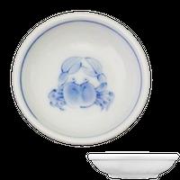 かに 丸小皿    く09-087-17 寸法:9φ×2.5H㎝ 80g