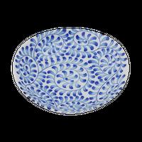 唐草 楕円3.5皿    く09-084-16 寸法:11.5×11×2.5H㎝ 130g