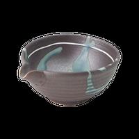 一珍藍流 3.6片口丼    く09-016-29 寸法:13×11.5×6H㎝  260g