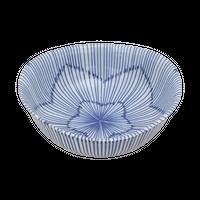 十草 楕円3.8鉢    く09-021-11 寸法:11×10.5×4.5H㎝ 180g