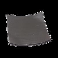 瀬戸黒 タタラ型5.0正角皿    く09-061-30 寸法:15.2×15.2×2.2H㎝ 450g