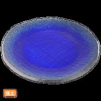 (強)伊賀るり釉(渕削)7.5丸皿    く09-068-07 寸法:23.5φ×2H㎝ 700g