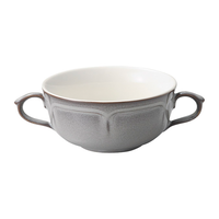 ラフィネ ストームグレー 両手スープカップ    496-15973054 寸法:16.8×11.9×5.5H㎝ 300cc