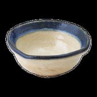 黄瀬戸渕ごす(撫角)小鉢(大)    く09-022-35 寸法:12.5φ×5H㎝ 240g