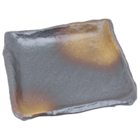 黒備前金茶吹 匠23㎝正角皿    く09-059-36 寸法:23×23×4.5H㎝ 910g