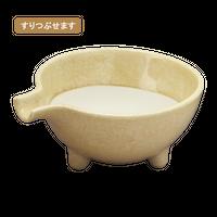 流釉片口薬味すり鉢(大)    く09-024-47 寸法:15.2×12.8×6.2H㎝ 220g