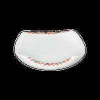 赤格子 受皿    く09-138-06 寸法:6.5×6.5×1.5H㎝  50g