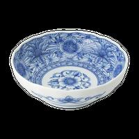線描牡丹 RI多用鉢    く09-012-33 寸法:φ16.5×5.5cm 360g