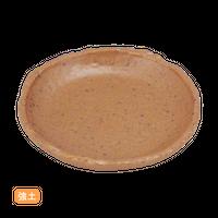 (強)NRチョコ 3.5小皿    く09-084-32 寸法:10.5×9.5×1.5H㎝ 100g
