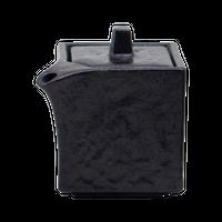 瀬戸黒(石目)角形正油差(小)    く09-141-38 寸法:5.5×5.5×7.5H㎝・120cc 180g
