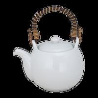 白露 3合土瓶(茶コシ付)    く09-120-06 寸法:L13.6×H10.5×H10cm・480㏄ 320g