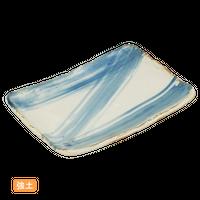 (強)黒土白うのふごすハケ 5.5長角皿    く09-082-08 寸法:16×11.5×2H㎝ 200g