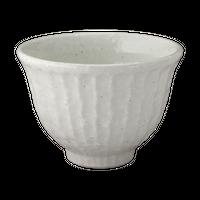 白玉粉引 しのぎ飯碗    く09-107-40 寸法:11.5φ×7.7H㎝ 290g