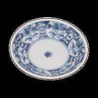 間取藍花 ZO三〇皿    く09-086-27 寸法:9.5φ×2H㎝ 80g