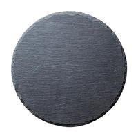 25cmラウンドスレートプレート    496-R5000003 寸法:25φ×0.7H㎝
