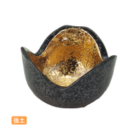 (強)黒ちらし内金塗 3.0三つ切形丼    く09-022-12 寸法:8φ×5H㎝ 140g