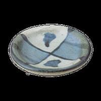 古染だみ格子 豆小皿    く09-027-39 寸法:6.5φ×1.5H㎝ 40g