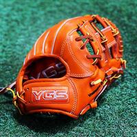 YGSセンスシリーズ 硬式ステア内野用 YI88 オレンジ 高校野球対応 ノンオイルツヤだし型付け済み