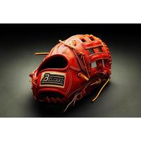 ベルガード武州和牛ストロングレザーシリーズ、外野手用BB-104、オレンジブラウン、右投げ