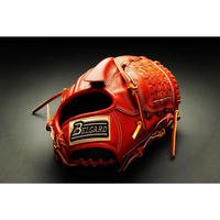 ベルガード武州和牛ストロングレザーシリーズ、投手用BB-101、オレンジブラウン