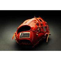 ベルガード武州和牛ストロングレザーシリーズ、内野手用BB-103、オレンジブラウン、右投げ