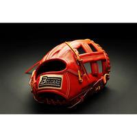 ベルガード武州和牛ストロングレザーシリーズ、内野手用BB-102、オレンジブラウン、右投げ