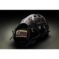 ベルガード武州和牛ストロングレザーシリーズ、外野手用BB-104、ブラック、右投げ