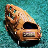 YGS硬式グラブ左投げ 外野用 YO51 タン 高校野球対応 ノンオイルツヤだし型付け済み
