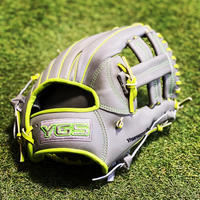 YGSセンスシリーズ 軟式内野用 YI17   グレー×ライム×蛍光グリーン