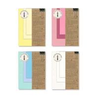 Paper tasting 4種セット (Yellow vol.2 ,Pink Vol.1 , Blue Vol.2 , Onionskin Vol.1)
